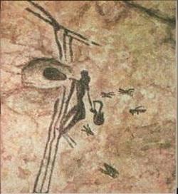 Изображение человека из Бикорпа.